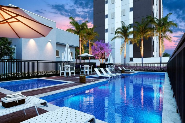 piscina do condomínio Madrid